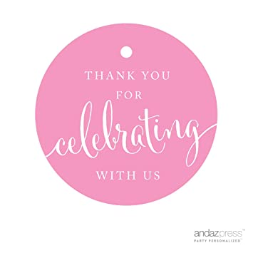 amazon com andaz press circle gift tags thank you for celebrating