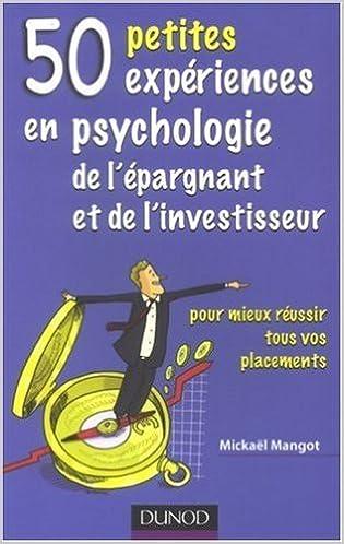 Image result for 50 petites expériences en psychologie de l'épargnant et de l'investisseur