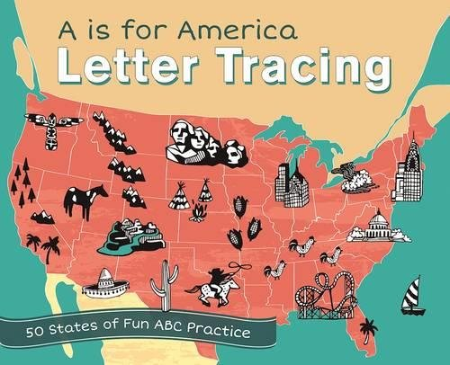 Download A is for America Letter Tracing: 50 States of Fun ABC Practice pdf epub
