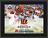 "Cincinnati Bengals 2015 AFC North Division Champions 10.5"" x 13"" Sublimated Plaque - Fanatics Authentic Certified"