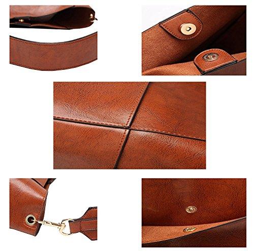 Molodo Womens Satchel Hobo Stylish Top Handle Tote PU Leather Handbag Shoulder Purse by Molodo (Image #5)