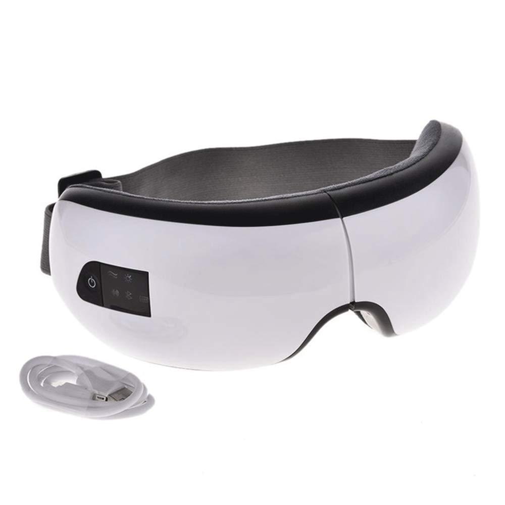TLMYDD ポータブルフォードアイマッサージャースパ美容機器音楽ワイヤレスusb充電式ブルートゥース空気圧アイプロテクター 睡眠マスク (色 : 白)  白 B07PDWXHS1