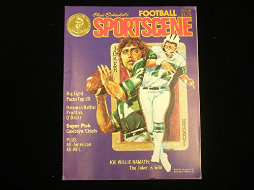 1972 Chris Schenkel's Football Sportscene Magazine Joe Namath Cover (Joe Namath Cover)