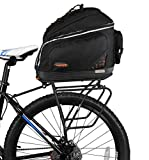 Ibera Bike PakRak Clip-On Commuter Bag & Touring Carrier Plus+ Rack (Disk Brake Mounts) Combo Set