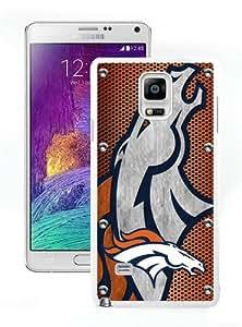Lovely And Durable Custom Designed Case For Samsung Galaxy Note 4 N910A N910T N910P N910V N910R4 With Denver Broncos 04 White Phone Case