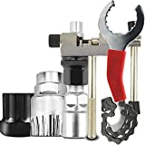 SODIAL Bicycle Repair Tool Kits Mountain Bike Chain Cutter/Chain Removel/Bracket Remover/Freewheel Remover/Crank Puller Remover