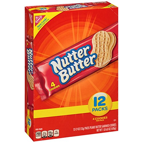 Nabisco Butter Cookies - Nutter Butter Peanut Butter Sandwich Cookies - Snack Pack, 12 Count