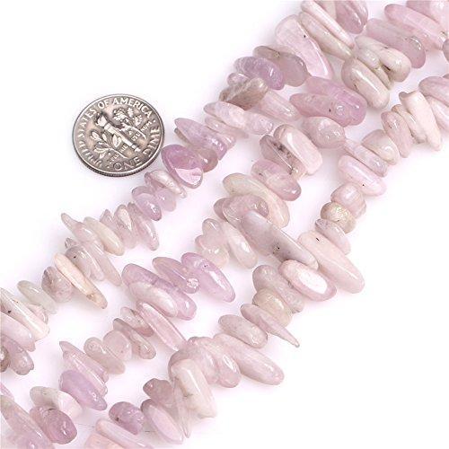 JOE FOREMAN 6x13mm Spodumene Semi Precious Stone Purple Pionts Sticks Spike Loose Beads for Jewelry Making DIY Handmade Craft Supplies 15