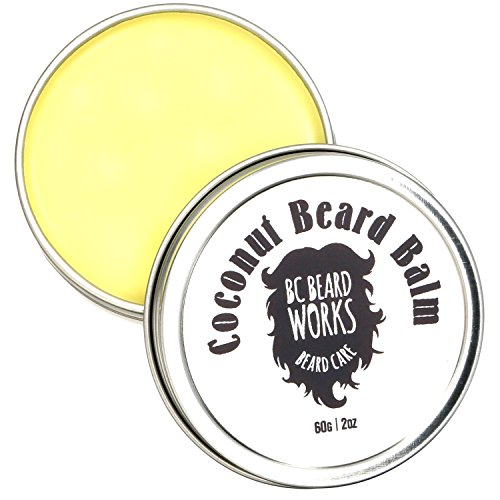 Coconut Beard Balm by BC BEARD WORKS: The Best Beard Softener With Jojoba Seed Oil And Bees Wax –Facial Hair Thickener And Skin Moisturizer For Men –Groom, Style And Condition - For Hair Facial Men Of Styles