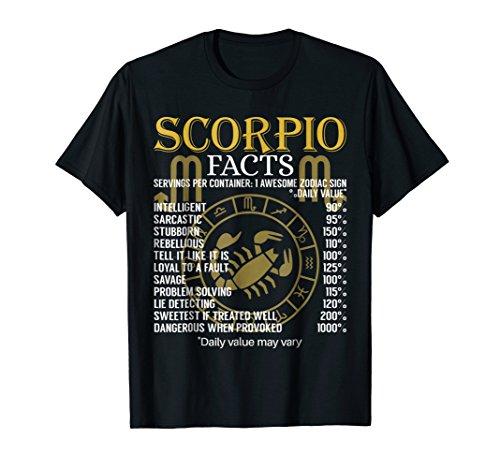 (Scorpio Facts Zodiac Sign T-Shirt)