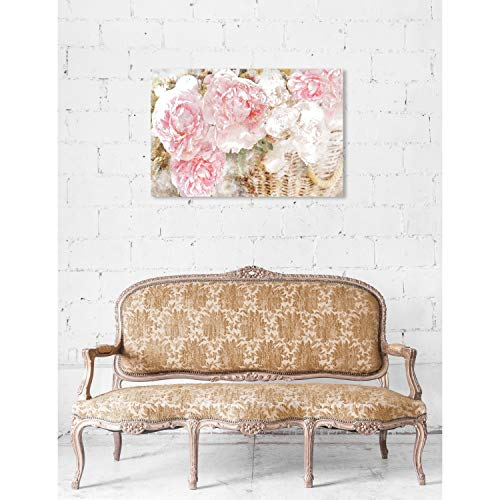 Amazon.com: Oliver Gal Basket O Roses Floral and Botanical Wall Art Canvas Print - Pink 36X24: Posters & Prints