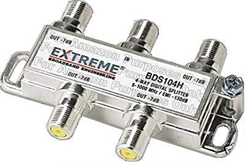 Extreme 4 Way Balanced HD Digital 1GHz high performance coax cable Splitter - BDS104h