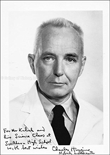 Charles B. Huggins Inscribed Photograph Signed