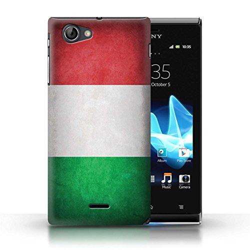 Etui / Coque pour Sony Xperia J (ST26i) / Italie/italien conception / Collection de Drapeau