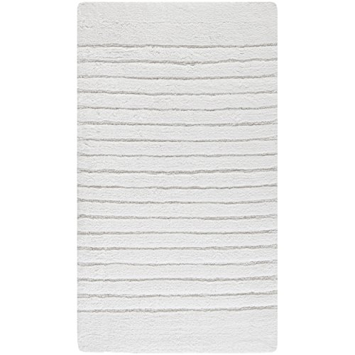 Safavieh Plush Master Bath Collection PMB625W Handmade White Cotton Bath Mat, 1 feet 9 inches by 2 feet 10 inches (1'9'' x 2'10'') (Set of 2) by Safavieh (Image #2)