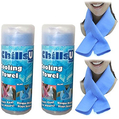 ChillsU Cooling Towels - Cool Gym Workout Sports - Cool Towel Sets