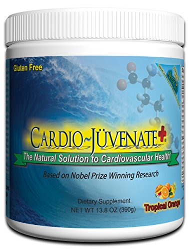 Cardio Juvenate Plus Tropical Orange Cardio Health Formula: Nitric Oxide Supplement 5000mg L-arginine, 1000mg L-citrulline, 1000mg L-carnitine per serving to support heart health and blood pressure