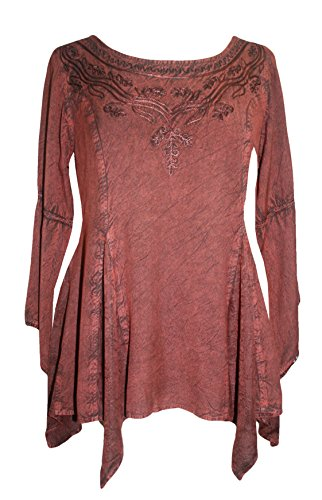 Agan Traders 303 NB Bohemian Asymmetrical Blouse Tunic Top