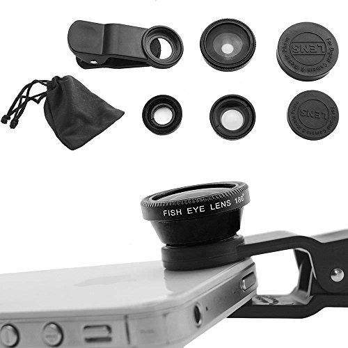 (Case Safety 1 x 3in1 Lens Photo Clip Kit Set for Mobile Phone Tablet PC , Black)