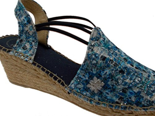 Toni Pons Woman Sandal Blue Rope Wedge Espadrilles Fantasy Art Torello HVVLcwTc4