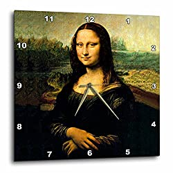 3dRose dpp_556_3 Mona Lisa-Wall Clock, 15 by 15-Inch