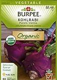Burpee 60111 Organic Kohlrabi Purple Vienna Seed Packet
