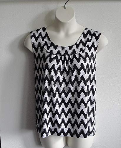 Style Sara ~ Black//White Aztec Chevron Shoulder ~ Breast Cancer ~ Mastectomy//Hospice//Stroke//Adaptive Clothing//Breastfeeding Shoulder Shirt Post Surgery Shirt