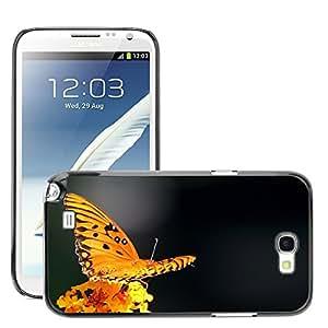 Print Motif Coque de protection Case Cover // M00290817 La pasión de la mariposa del Fritillary // Samsung Galaxy Note 2 II N7100