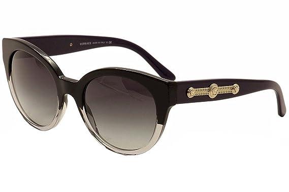 fa09300c633 Amazon.com  Versace Women s VE4294 Black Crystal Grey Gradient  Clothing