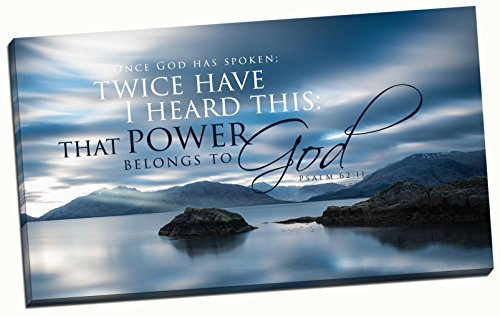 Christian Wall Art Canvas Beautiful Scenic Psalm 62:11 (16