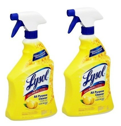 Lysol All-Purpose Cleaner Trigger, Lemon Breeze Scent, 32 Fluid Ounce, 2 Count by (Lysol All Purpose Cleaner)