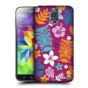 AIYAYA Samsung Case Designs Tiki Hawaiian Patterns Protective Snap-on Hard Back Case Cover for Samsung Galaxy S5