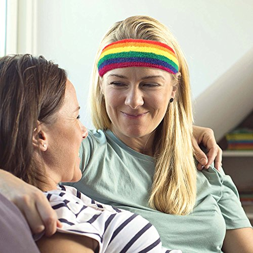 Taihao Story 6Pcs Gay Pride LGBT Pride Sweatband Sport Color Run Athletic Cotton Terry Cloth Hair Band by Taihao Story (Image #5)