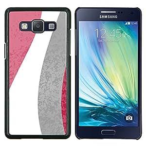 Stuss Case / Funda Carcasa protectora - Modelo de flores Líneas Blanco Gris Rosa - Samsung Galaxy A5 ( A5000 ) 2014 Version