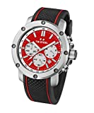 TW Steel Men's TS1 Stainless Steel Watch with Black Silicone Band