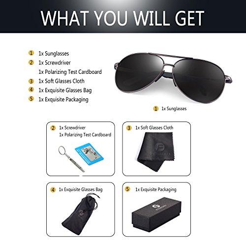 812f3c43b003 Polarized Aviator Sunglasses for Men - Feirdio Metal Frame Sports UV ...