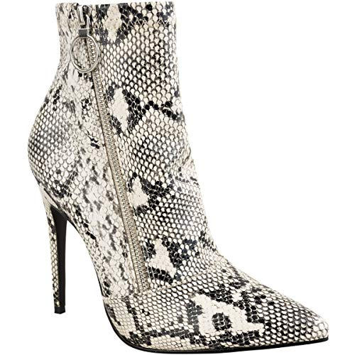 Fashion Thirsty Womens High Heel Stilettos Ankle Boots Smart Sexy Zip Shoes Size 8