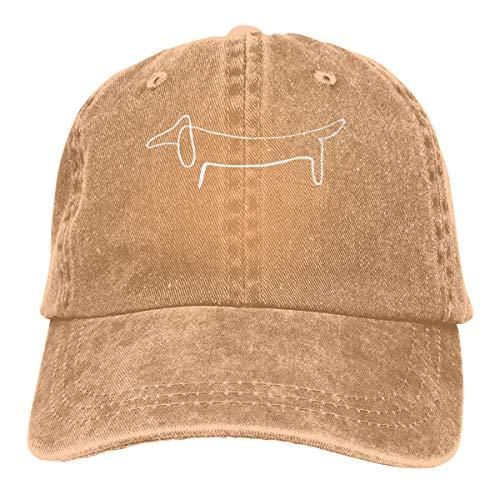 Vbfgtg Pablo Picasso Dog Denim Hats Washed Retro Baseball Cap Dad Hat