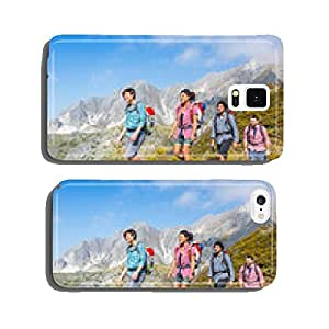 People Hiking at Top of Mountain cell phone cover case Samsung S6