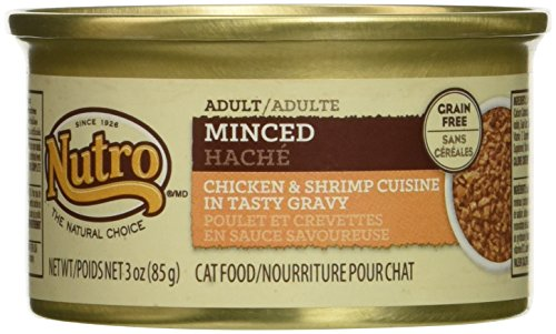 Nutro Natural Choice Minced Chicken & Shrimp Formula Canned Adult Cat Food, Case of 24 by Nutro