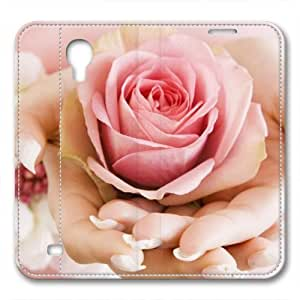 iCustomonline Leather Case for iPhone 6, Romantic Wedding Flowers Ultimate Protection Leather Case for iPhone 6 hjbrhga1544