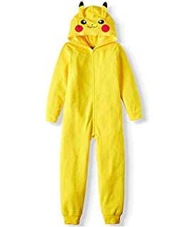 566df879b7 Amazon.com  Pokemon Pikachu Boys Union Suit Pajamas 4-16 (M (8 ...