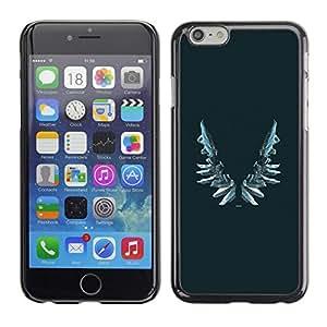 "For Apple Iphone 6 Plus / 6S Plus ( 5.5 ) Case , Alas Vignette Blue Angel Arte Profundo"" - Diseño Patrón Teléfono Caso Cubierta Case Bumper Duro Protección Case Cover Funda"
