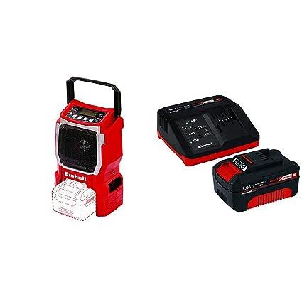 Einhell Expert TE-CR 18 Li - Radio (sin cargador o batería) + Power X-Change Kit cargador con batería, tiempo de carga de 60 minutos