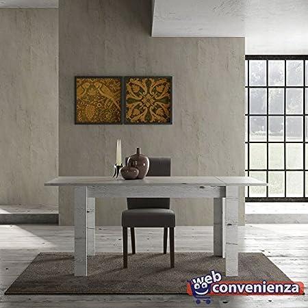 Tavoli Pieghevoli Mondo Convenienza.Web Convenienza Land Tavolo Da 137 Cm Con Allunga Rovere Neve