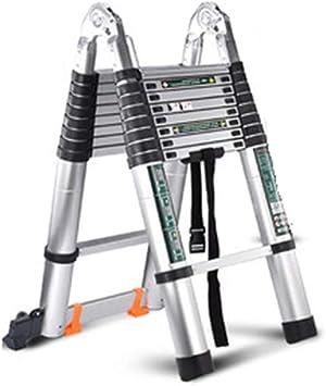 Escaleras Telescópicas Portátil Articulación Grande Escalera Plegable Extensible Aluminio Multiusos Escalera Doble Antideslizantes Desván Peldaños 01008 (Size : 1.9+1.9M): Amazon.es: Bricolaje y herramientas