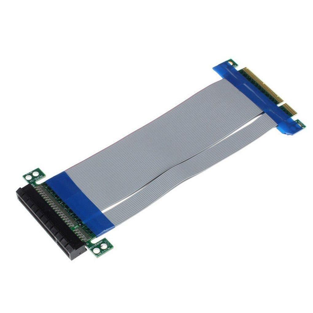 shangjunol Flexible PCI-E 8X Verl/ängerungskabel Grafikkarte Band Extender PCI Express Adapter PC-Zubeh/ör