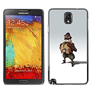 A-type Colorful Printed Hard Protective Back Case Cover Shell Skin for SAMSUNG Galaxy Note 3 III / N9000 / N9005 ( Pilot Man Attire Uniform Art Painting Fly )