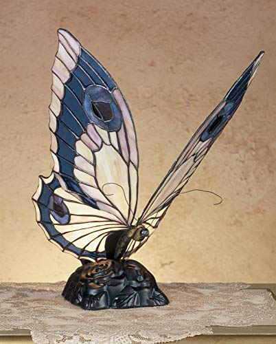 Butterfly Screen Stained Glass Fireplace - Meyda Tiffany 48016 Lighting, 15