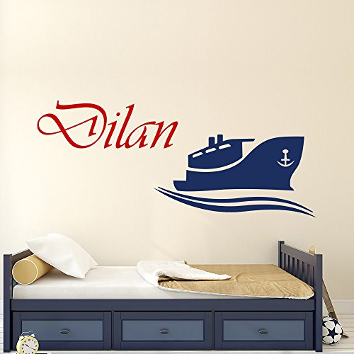 Personalized Name Wall Decals Boat Vinyl Lettering Nautical
